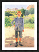Portrait of a young Delisle by Felix Vallotton Picture Frame print