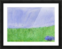 field of grass Picture Frame print