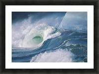 Turbulent Shorebreak Waves With Whitewash. Picture Frame print