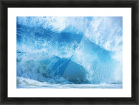 Closeup Of Crashing, Blue Wave Picture Frame print