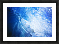 Hawaii, Oahu, Perfect Wave At Pipeline. Picture Frame print