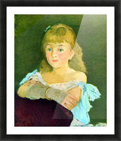Portrait of Lina Campineanu by Manet Picture Frame print
