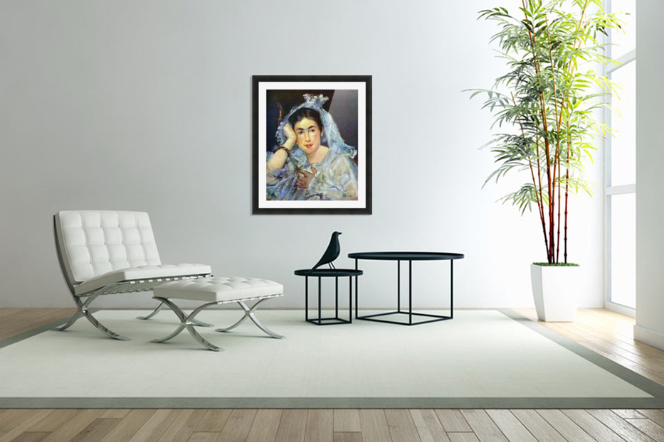 Portrait of Marguerite de Conflans by Manet in Custom Picture Frame