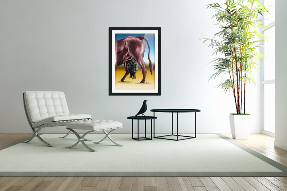 cow in Custom Picture Frame