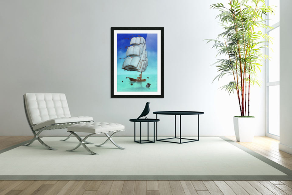 Journey with sharks in Custom Picture Frame