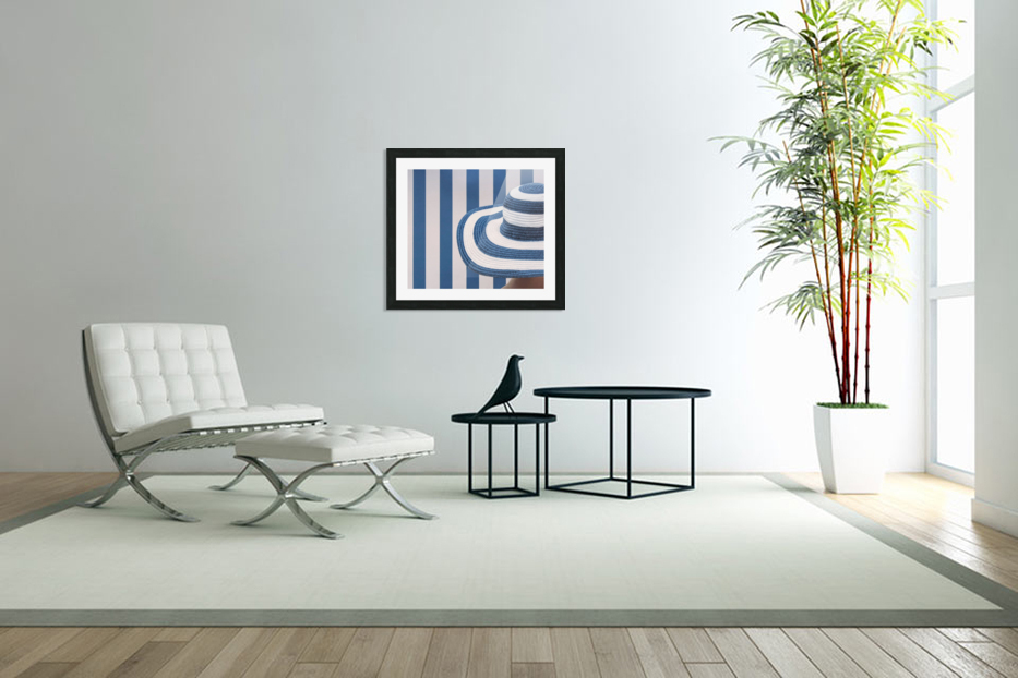 Blue and white in Custom Picture Frame
