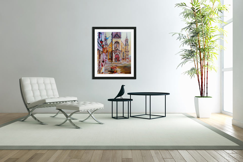 EGLISE BONSECOURS VIEUX MONTREAL  in Custom Picture Frame