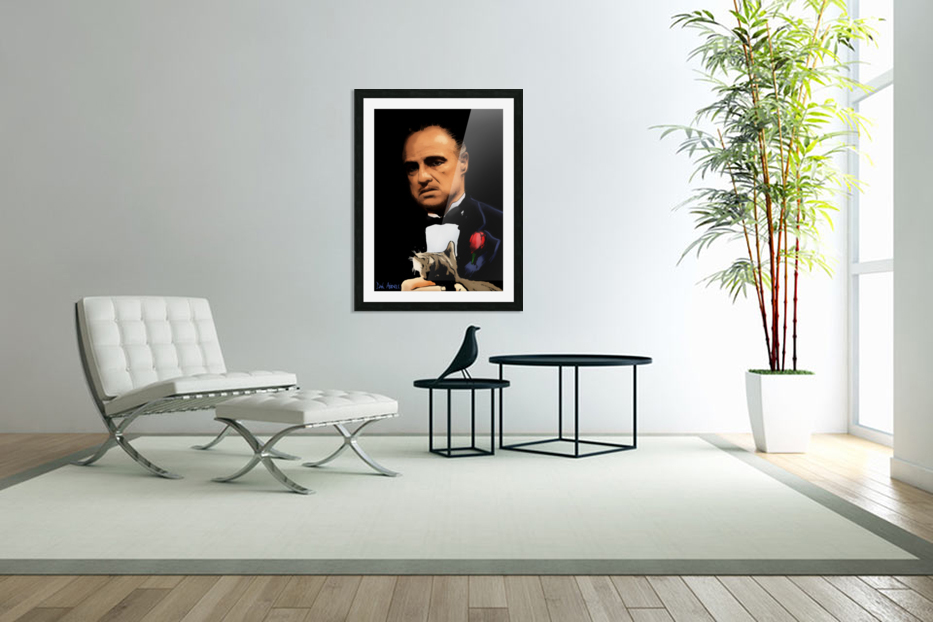 Marlon Brando - The Godfather in Custom Picture Frame
