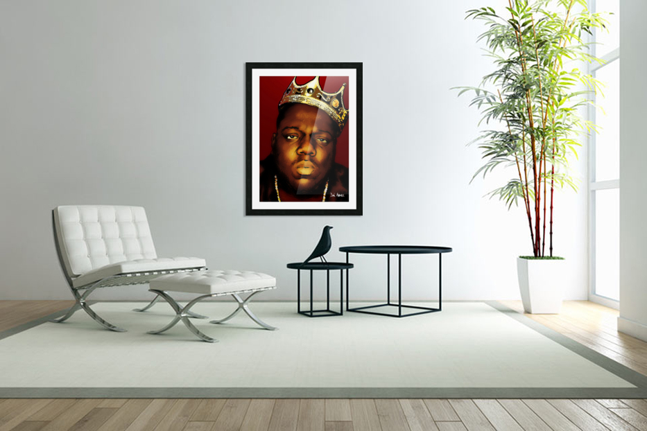 Biggie Smalls aka Notorious B.I.G in Custom Picture Frame