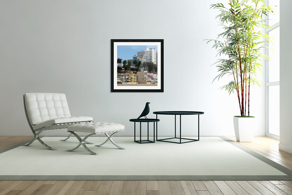 The Georgian at Santa Monic Beach in Custom Picture Frame