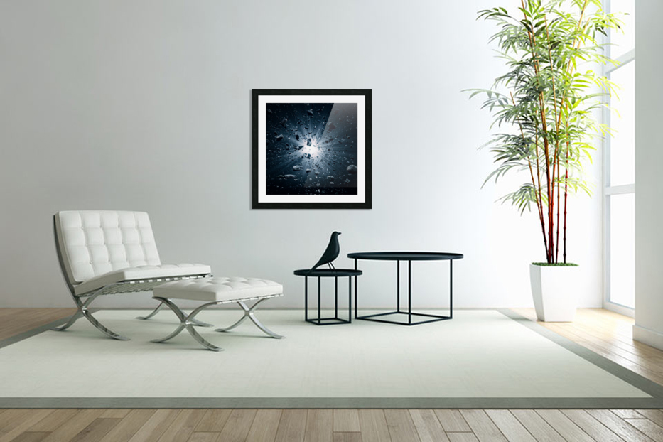 Big Bang explosion in space in Custom Picture Frame