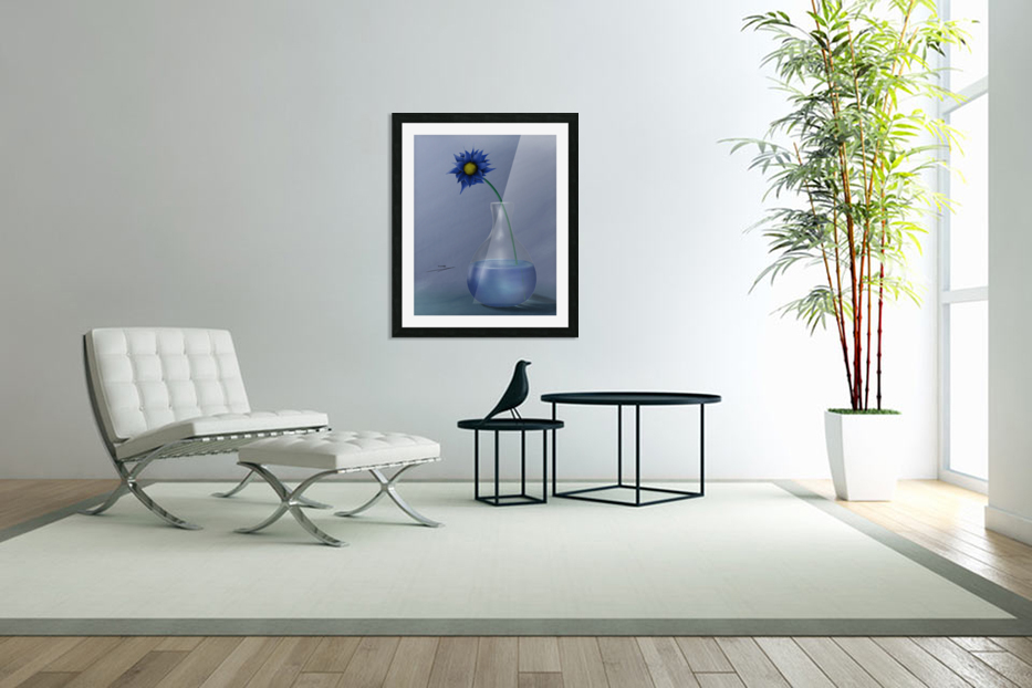 blue in Custom Picture Frame