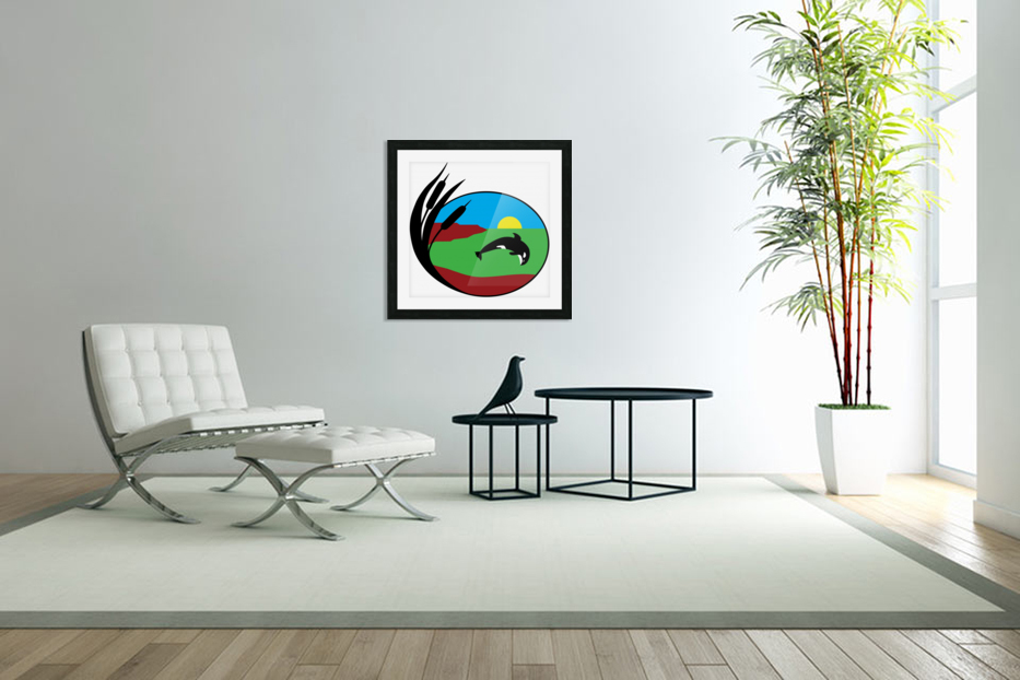 Whales Just Want To Have Fun in Custom Picture Frame