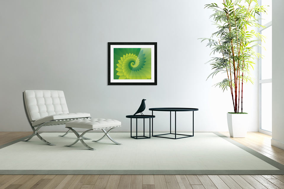 Shiny Greeny Art in Custom Picture Frame
