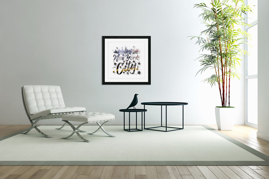 City-Art NYC Composing | Typography in Custom Picture Frame