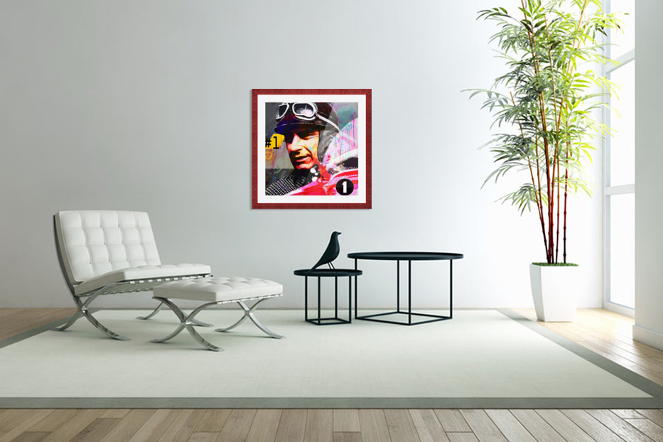 Fangio in Custom Picture Frame