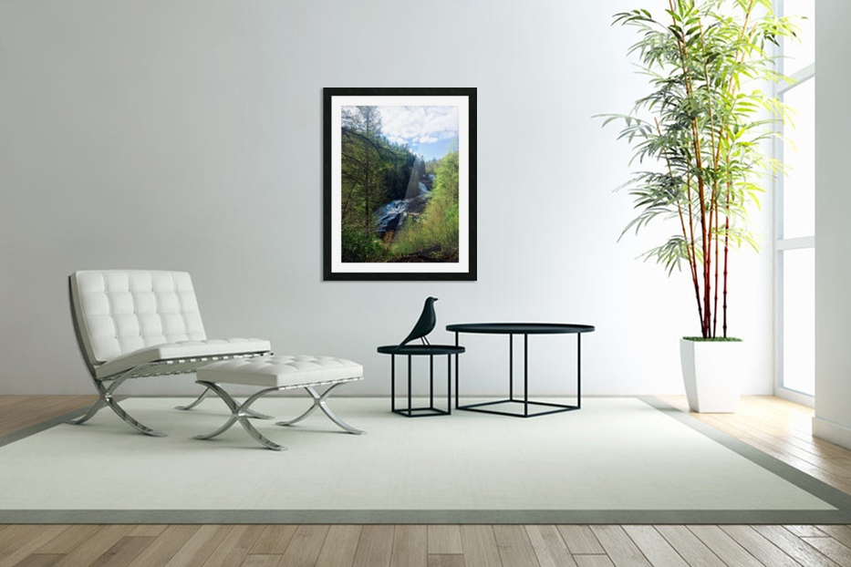 Waterfall Delight in Custom Picture Frame