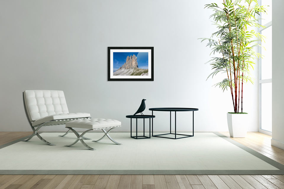 Three peaks of Lavaredo in Custom Picture Frame