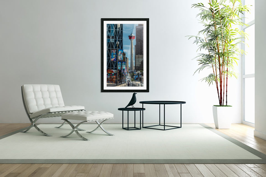 CalgaryTowerCenterSt in Custom Picture Frame