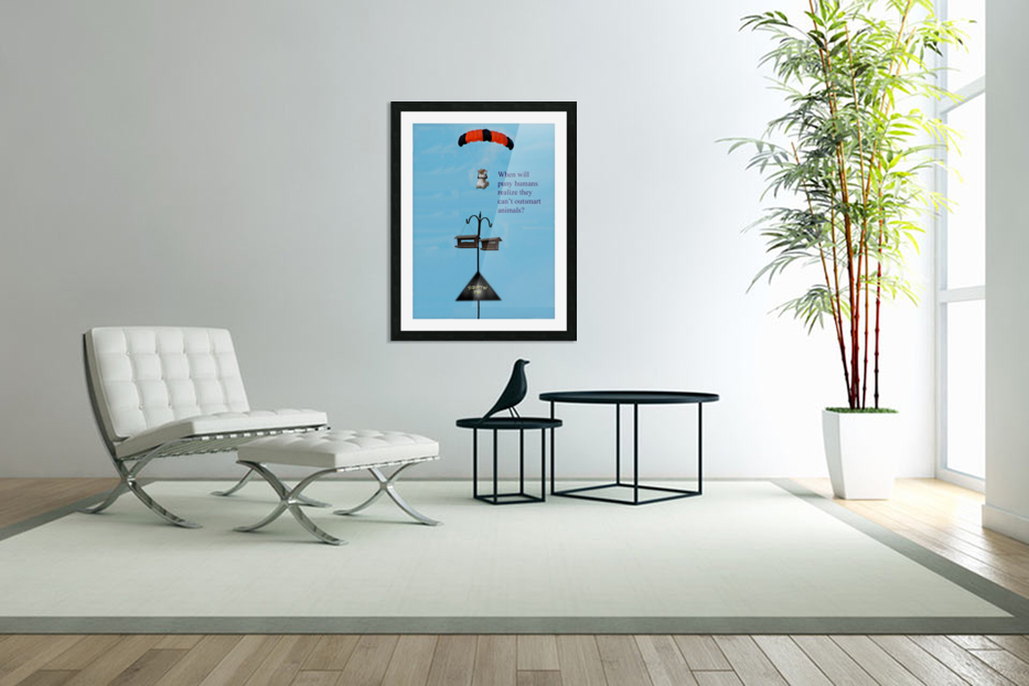 SkyDivingSquirrel in Custom Picture Frame