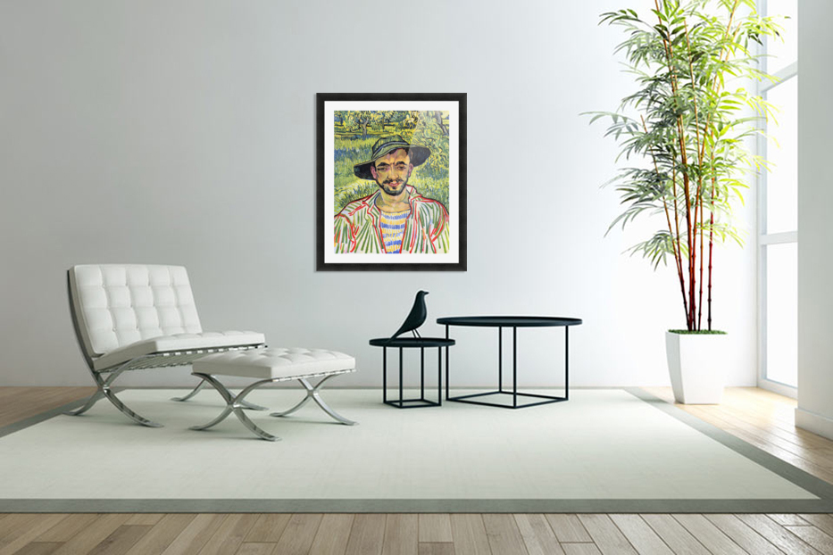 Young Farmer -1- by Van Gogh in Custom Picture Frame