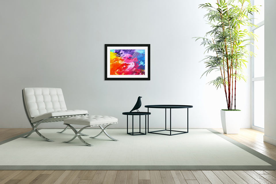 Waves Of Colors in Custom Picture Frame