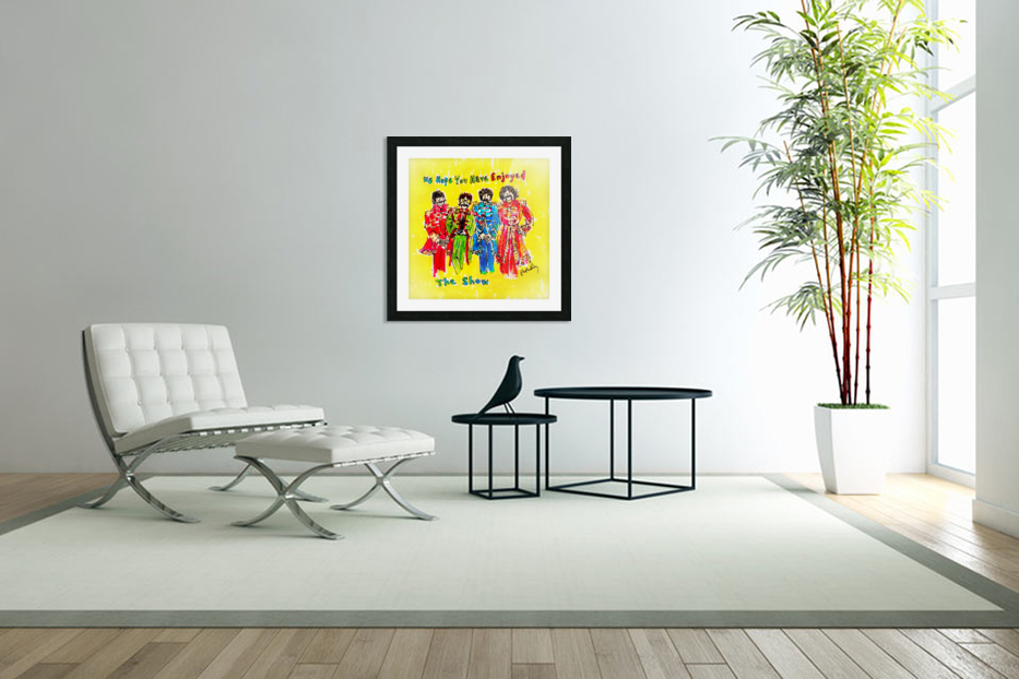 The Beatles - Enjoyed The Show in Custom Picture Frame