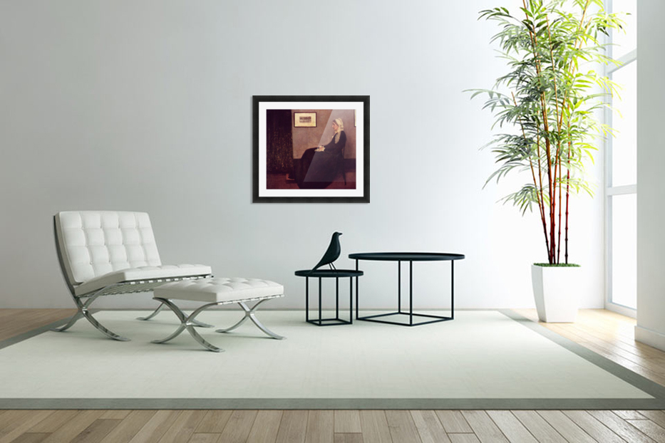 Arrangement in Black and Gray by Whistler in Custom Picture Frame