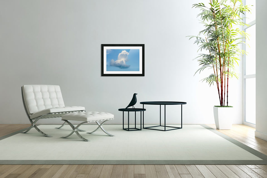 Cloud and blue sky in Custom Picture Frame