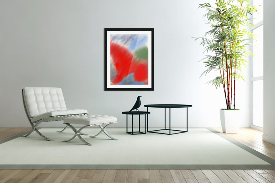 Abstract-red flame in Custom Picture Frame