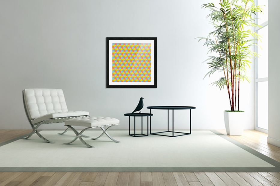 Hexagon Seamless Pattern Artwork in Custom Picture Frame