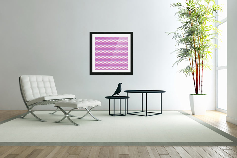 Pink Pattern Artwork in Custom Picture Frame