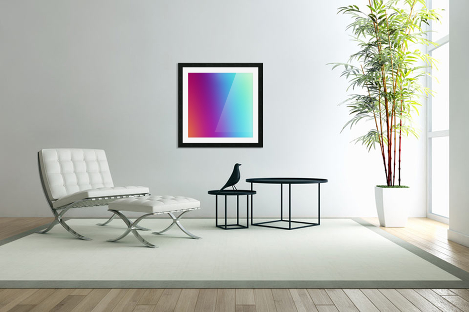 Multicolor Background in Custom Picture Frame