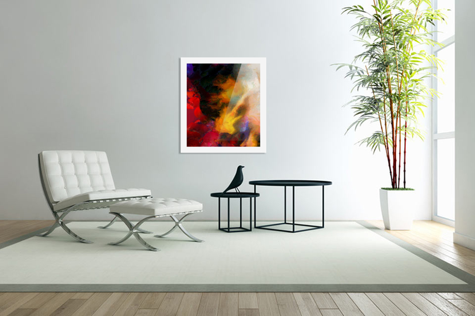 Colorful oil on canvas in Custom Picture Frame