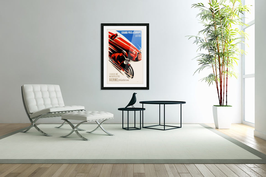 Berne Grand Prix d'Europe Autos 1948 in Custom Picture Frame