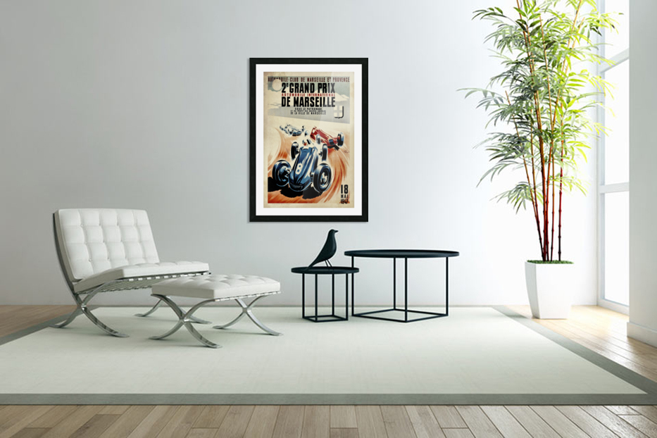 Marseille 2nd Grand Prix Automobile International 1947 in Custom Picture Frame
