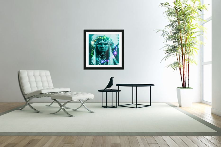 Magical Indian Chief in Custom Picture Frame