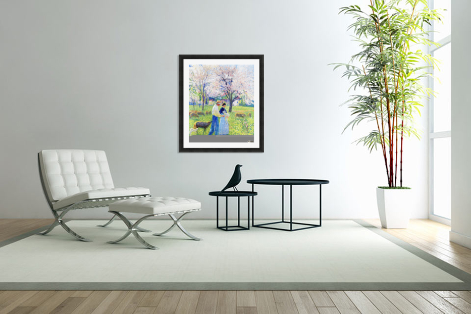 Lovers at Spring in Custom Picture Frame