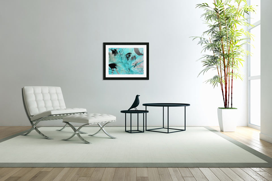 Abstract Watercolor. Geoffory E in Custom Picture Frame