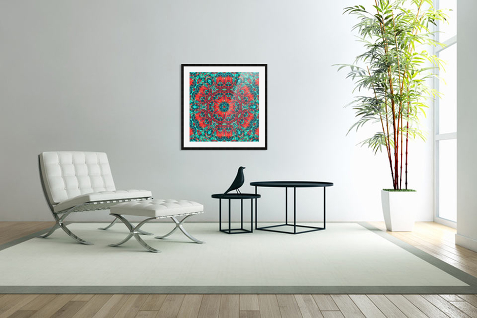 Wild Nature mandala in Custom Picture Frame