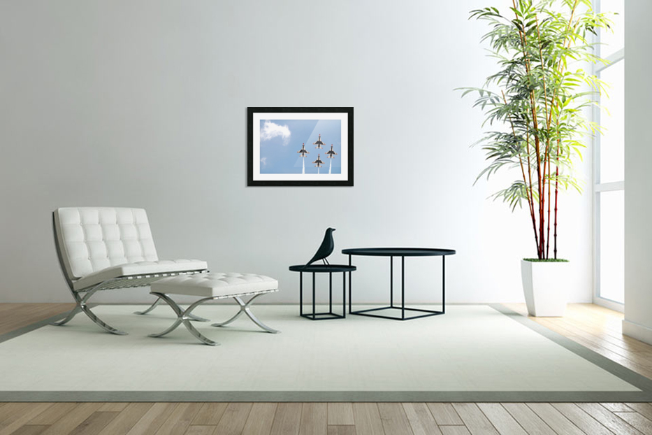 Falcon Formation in Custom Picture Frame