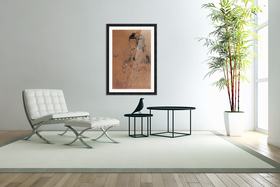 Mrs Leyland seated by Whistler in Custom Picture Frame