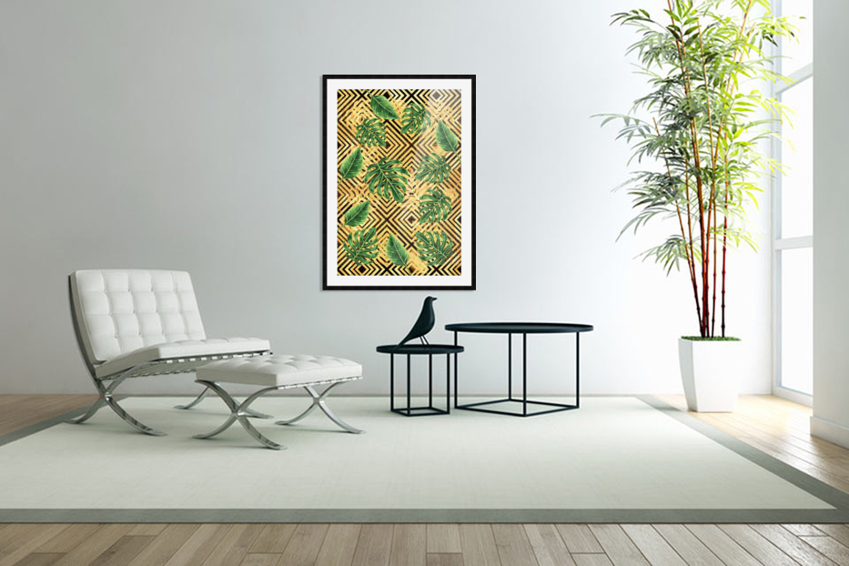 Tropical XVII in Custom Picture Frame