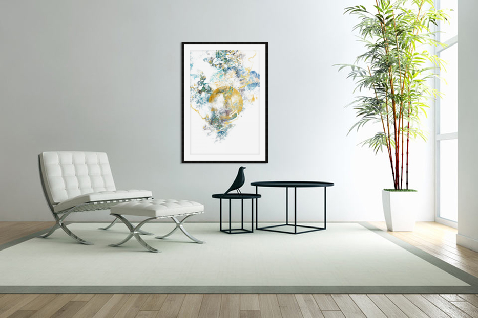 Natures Call - Abstract Painting III in Custom Picture Frame