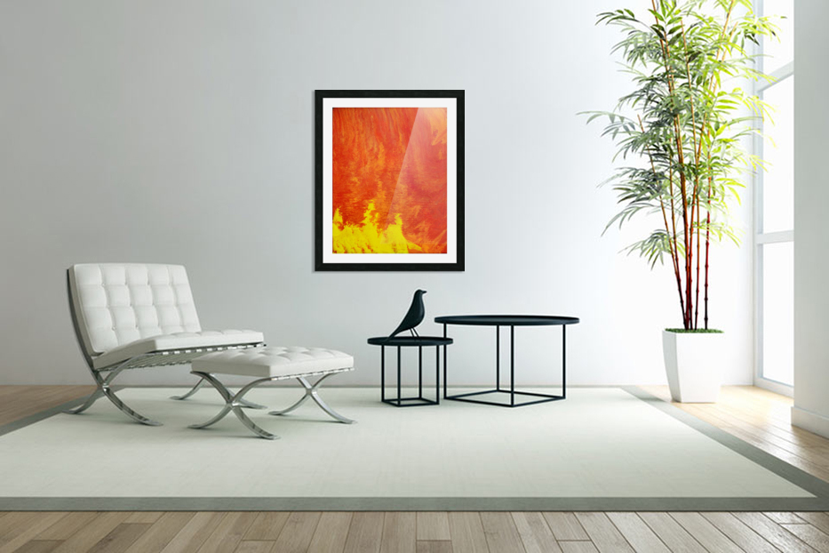 Fire in the Sky. Tala S in Custom Picture Frame