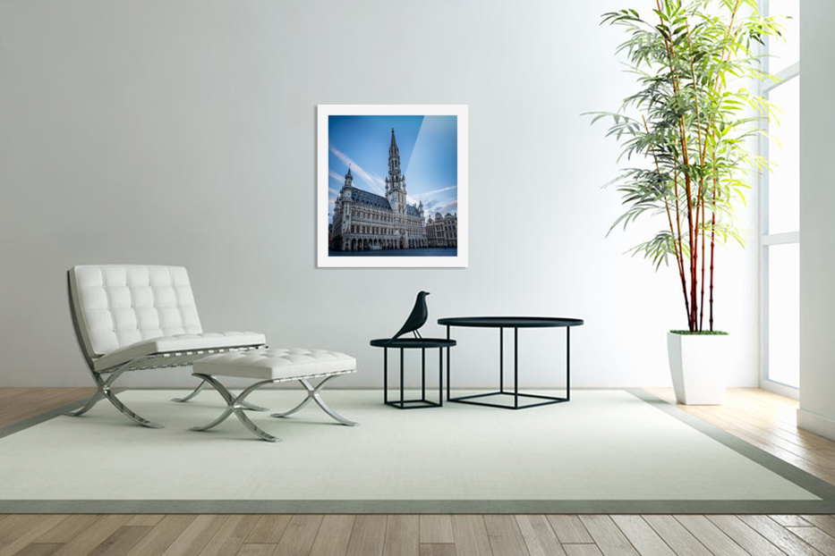 Town Hall in the Grand Place - Belgium in Custom Picture Frame