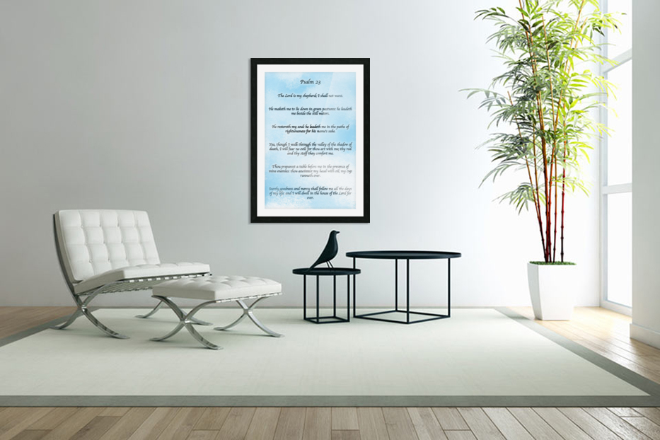 Psalm 23 Clouds in Custom Picture Frame