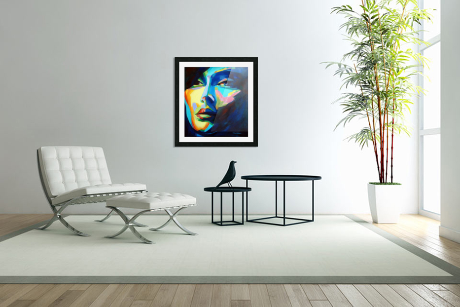 DESIRES AND ILLUSIONS PAINTING in Custom Picture Frame