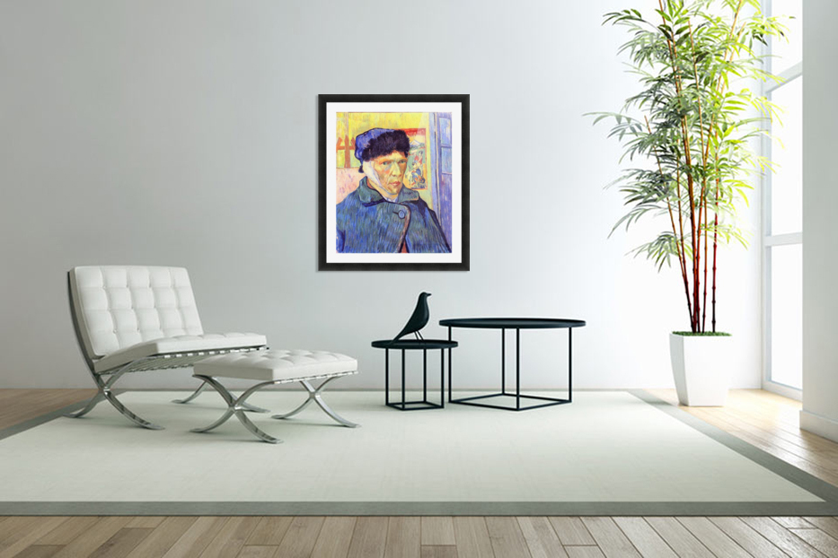 Self-Portrait with cut ear -2- by Van Gogh in Custom Picture Frame