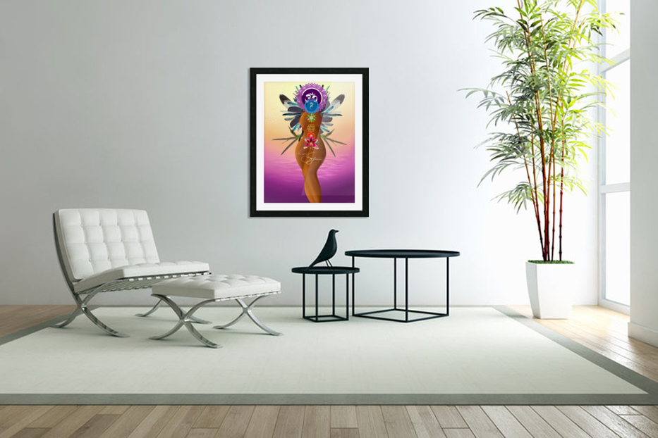Chakra Queen in Custom Picture Frame